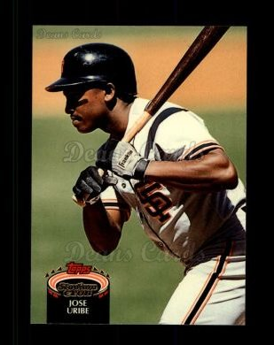1992 Topps Stadium Club #371  Jose Uribe