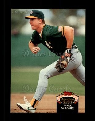 1992 Topps Stadium Club #475  Mark McGwire