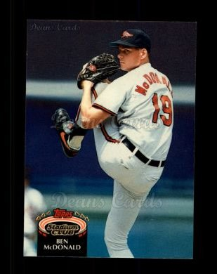 1992 Topps Stadium Club #490  Ben McDonald