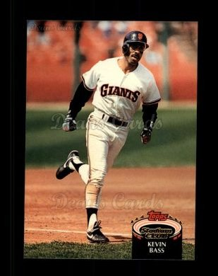 1992 Topps Stadium Club #6  Kevin Bass
