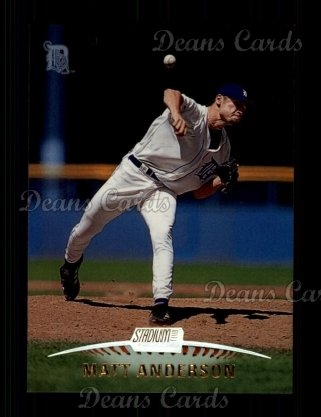 1999 Topps Stadium Club #84  Matt Anderson