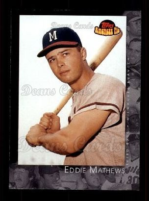 2001 Topps American Pie #27  Eddie Mathews