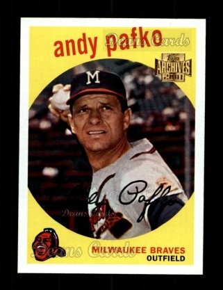 2001 Topps Archives #112   -  Andy Pafko 59 Topps