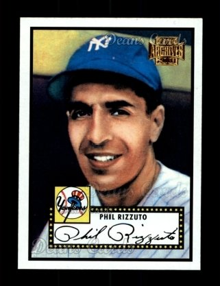 2001 Topps Archives #12   -  Phil Rizzuto 52 Topps