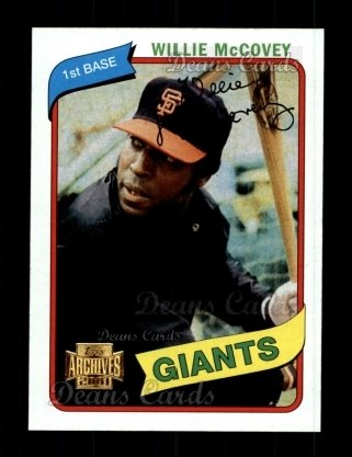 2001 Topps Archives #158   -  Willie McCovey 80 Topps