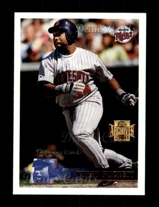 2001 Topps Archives #200   -  Kirby Puckett 96 Topps