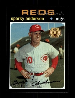 2001 Topps Archives #203   -  Sparky Anderson 71 Topps