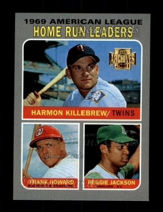 2001 Topps Archives #206   70 Topps AL HR Leaders