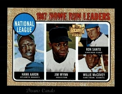 2001 Topps Archives #207   68 Topps NL HR Leaders