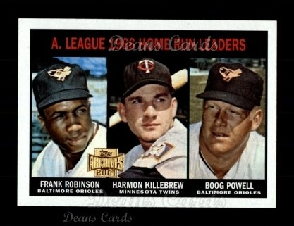2001 Topps Archives #208   67 Topps AL HR Leaders