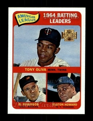 2001 Topps Archives #209   65 Topps AL Batting Leaders