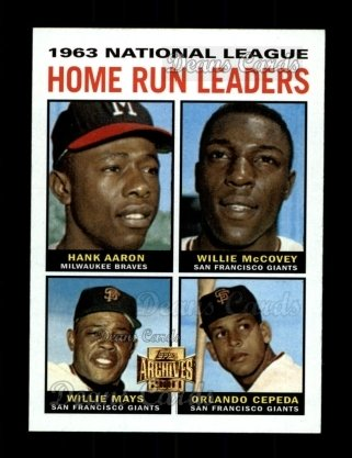 2001 Topps Archives #210   64 Topps NL HR Leaders