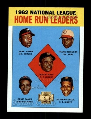 2001 Topps Archives #211   63 Topps NL HR Leaders