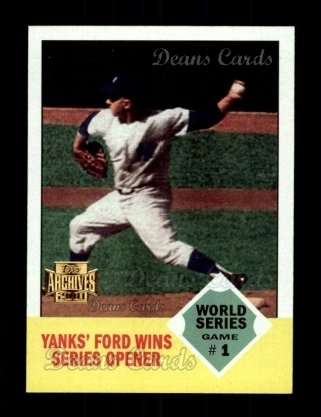 2001 Topps Archives #221   -  Whitey Ford 63 Topps