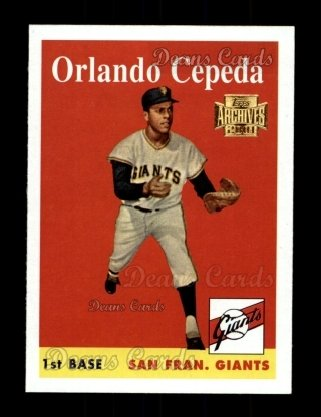 2001 Topps Archives #253   -  Orlando Cepeda 58 Topps