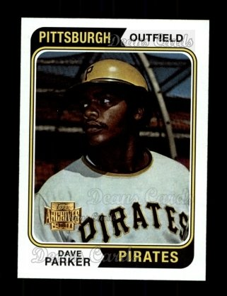 2001 Topps Archives #257   -  Dave Parker 74 Topps