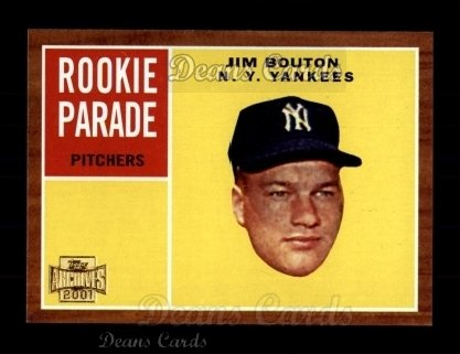 2001 Topps Archives #261   -  Jim Bouton 62 Topps