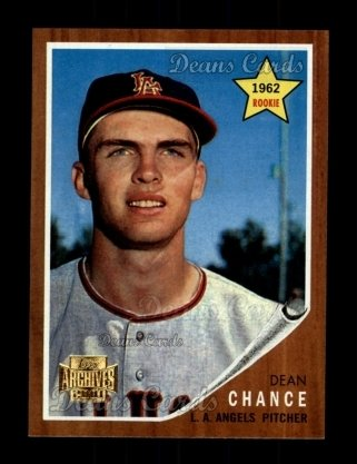 2001 Topps Archives #262   -  Dean Chance 62 Topps