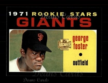 2001 Topps Archives #287   -  George Foster 71 Topps