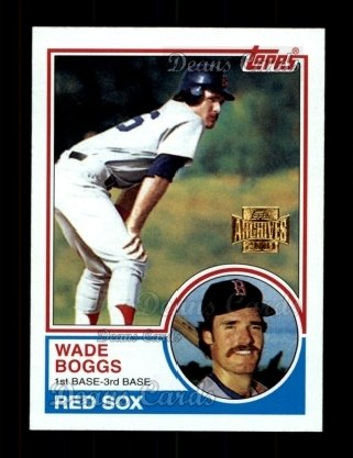 2001 Topps Archives #307   -  Wade Boggs 83 Topps