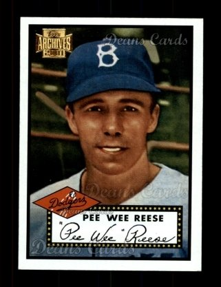2001 Topps Archives #315   -  Pee Wee Reese 52 Topps