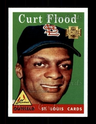 2001 Topps Archives #322   -  Curt Flood 58 Topps