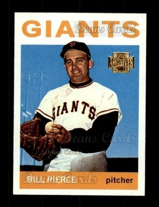 2001 Topps Archives #336   -  Billy Pierce 64 Topps