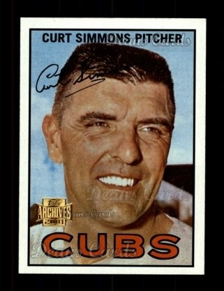 2001 Topps Archives #341   -  Curt Simmons 67 Topps