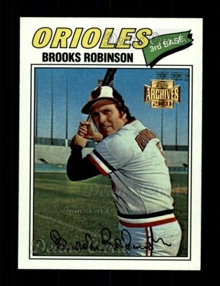 2001 Topps Archives #373   -  Brooks Robinson 77 Topps