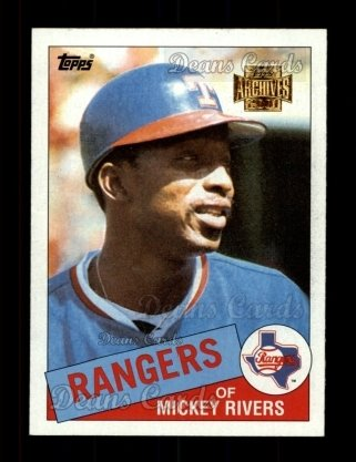 2001 Topps Archives #389   -  Mickey Rivers 85 Topps