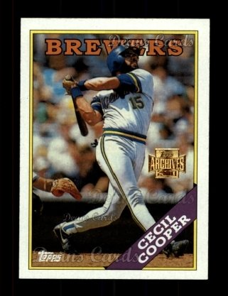 2001 Topps Archives #397   -  Cecil Cooper 88 Topps