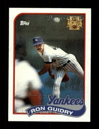 2001 Topps Archives #401   -  Ron Guidry 89 Topps