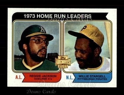 2001 Topps Archives #436   74 Topps HR Leaders