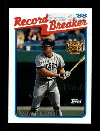 2001 Topps Archives #444   -  Wade Boggs 89 Topps Record Breaker
