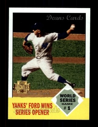 2001 Topps Archives #446   -  Whitey Ford 62 Topps
