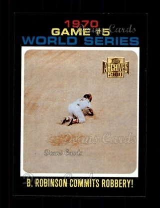 2001 Topps Archives #450   -  Brooks Robinson 71 Topps