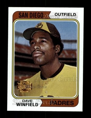2001 Topps Archives #73   -  Dave Winfield 74 Topps