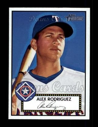 2001 Topps Heritage #12 BLK Alex Rodriguez