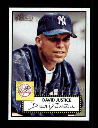 2001 Topps Heritage #14 RED David Justice