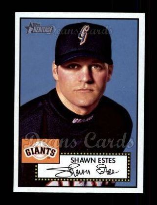 2001 Topps Heritage #218  Shawn Estes
