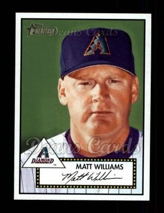 2001 Topps Heritage #270  Matt Williams