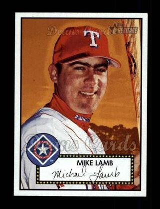 2001 Topps Heritage #29 BLK Mike Lamb