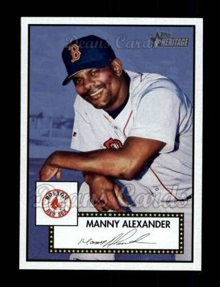 2001 Topps Heritage #395  Manny Alexander