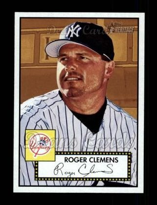 2001 Topps Heritage #48 RED Roger Clemens