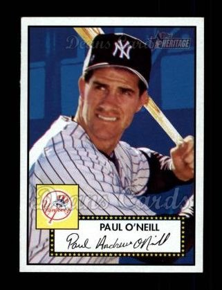 2001 Topps Heritage #6 RED Paul O'Neill