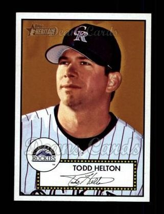 2001 Topps Heritage #7 RED Todd Helton