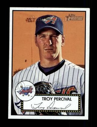 2001 Topps Heritage #71 RED Troy Percival