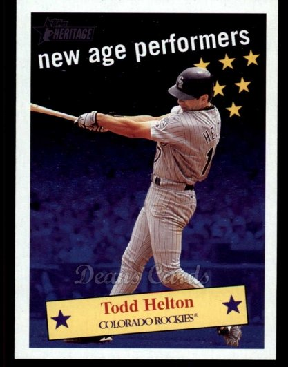 2001 Topps Heritage New Age Performers #13 NAP Todd Helton