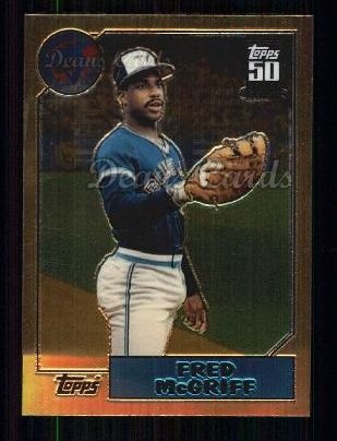 2001 Topps Traded Chrome #128 T  -  Fred McGriff 87 Topps Traded