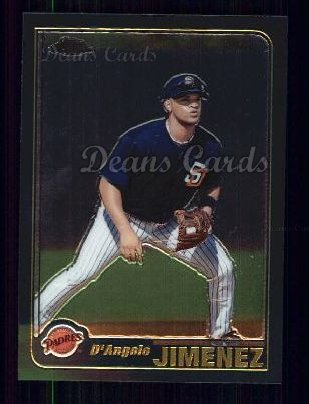 2001 Topps Traded Chrome #177 T D'Angelo Jimenez